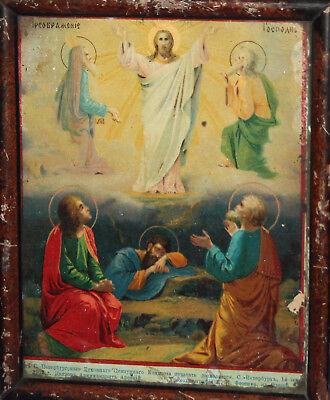 1902 Russian Printed Icon Transfiguration Of Jesus Christ