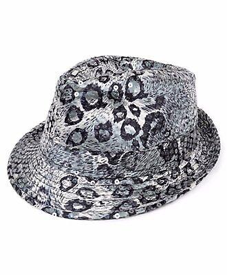 Black & White Animal Print Sequin Fedora Hat (H5626) - Sequin Fedora