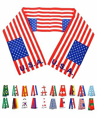 All World Flags (National Pride Scarves All around the world Nation Flags Patriotic Unisex)