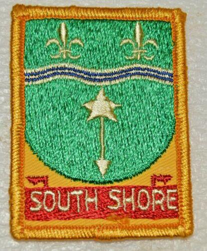 SOUTH SHORE Rolled Edge Rectangular Boy Scout Uniform Badge Canadian (QCS5B)