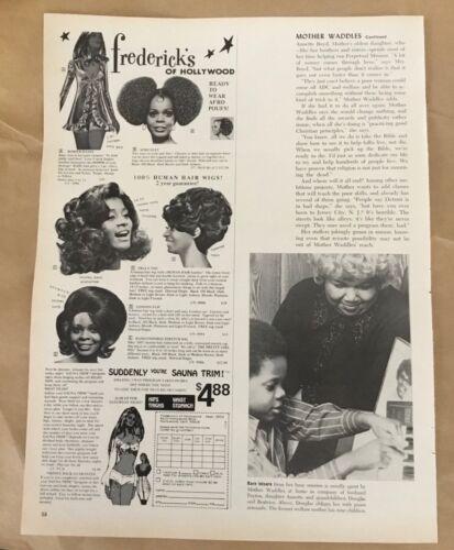 Frederick's of Hollywood wigs ad 1972 original vintage print 1970s retro art