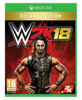 WWE 2K18 Deluxe Edition Microsoft Xbox One Game 16+ Years