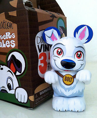 """DISNEY VINYLMATION 3"""" WHISKERS & TALES TAILS BOLT DOG COLLECTIBLE TOY FIGURE"""