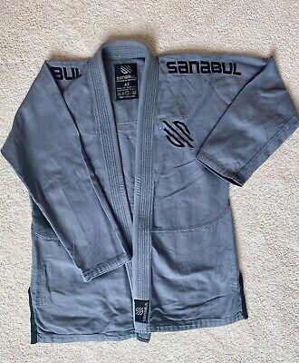 Sanabul A2 Mens Gray Jiu Jutsu Uniform Judo Grey Kimono Open Jacket & Pants