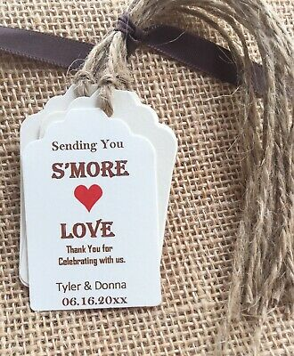 Wedding Tags -  Set of (25) Labels S'MORE Smores Wedding Favor Candy Tags