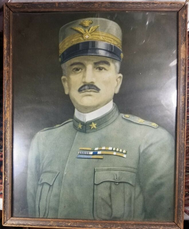 FRAMED PRINT OF WORLD WAR ONE ITALIAN GENERAL LUIGI CADORNA‐ORIGINAL PERIOD ITEM