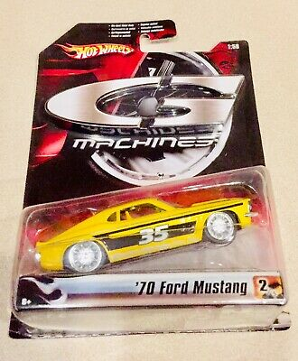 🏁Hot Wheels G-Machines Yellow w/Black Stripe '70 Ford Mustang Mach 1 w/RR's 🏁