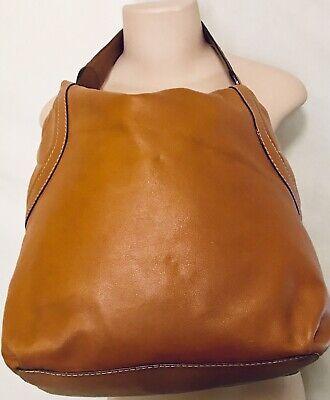 Michael Kors Fulton Large Brown Side Quilted Leather Hobo Shoulder Handbag