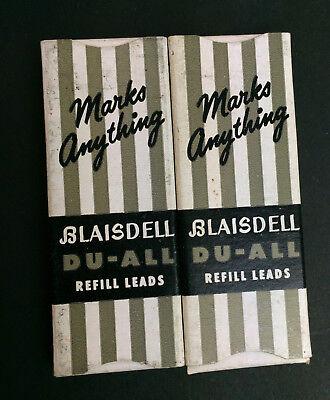 "Vtg Blaisdell Du-All Refill Leads-2 boxes (4 leads per box) 2.75"" L- .120 DIA"