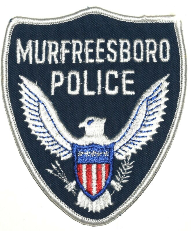 MURFREESBORO TENNESSEE TN Sheriff Police Patch VINTAGE OLD MESH BLUE ~