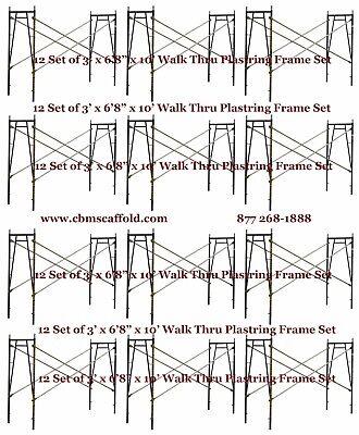 12 Set Of 3 X 68 X 10 Plastering Masonry Scaffold Frame Set Cbmscaffoldcom