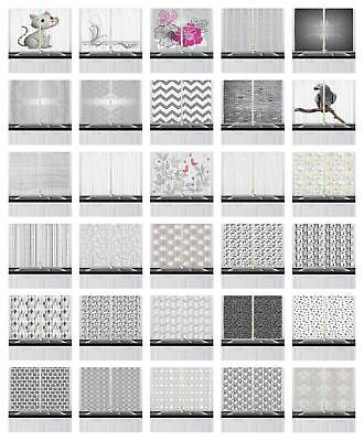 """Grey Kitchen Curtains 2 Panel Home Window Drapes 55"""" X 39"""" A"""