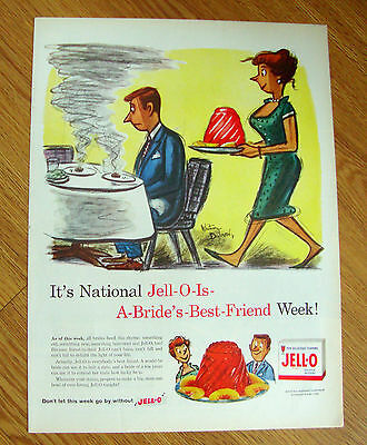 1959 Jell-o Ad  A Bride's Best Friend