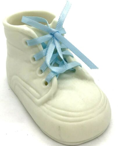 Baby Porcelain Laced Bootie WHITE Vintage Keepsake Collectable