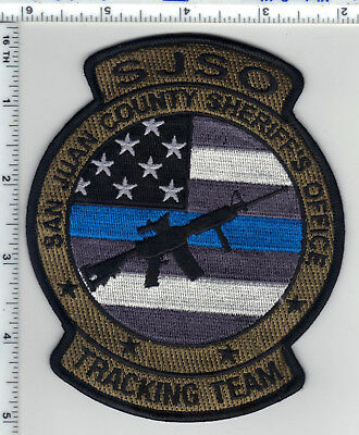 San Juan County Sheriff's Office (Utah) Tracking Team Camo Shoulder Patch - new