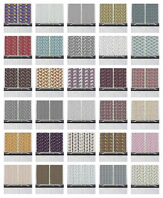 Multicolor Fabric Kitchen Curtains 2 Panel Set Window Drapes