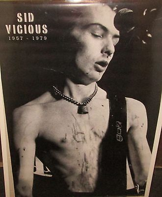 SID VICIOUS SEX  PISTOLS VINTAGE RARE NEW SEALED POSTER 2001 ROCK  METAL