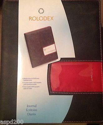 Rolodex Identity Raspberry Fabric Interior Professional Journal