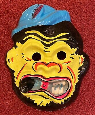 Vintage & Unused Cigar Monster Halloween Costume Mask Collegeville Ben Cooper