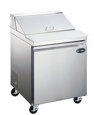 Saba 27 Commercial Stainless Steel Sandwich Prep Table Food Prep 8 Pans