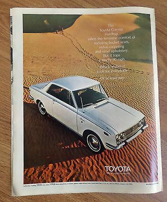 1970 Toyota Corona Hardtop Ad   Feminine Comfort ofReclining  Bucket Seats