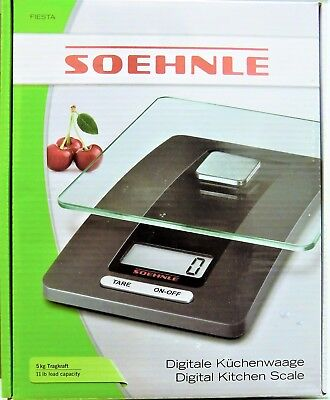 Soehnle 65106 Digitale Küchenwaage Fiesta, grau, NEU und originalverpackt ()
