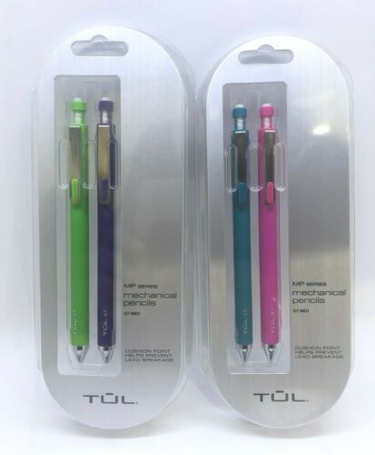 4 TUL Mechanical Pencils 0.7 mm Med, 2 Packs of 2 Pencils
