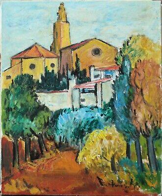 Paysage du midi;  Peinture à l'huile sur toile signée
