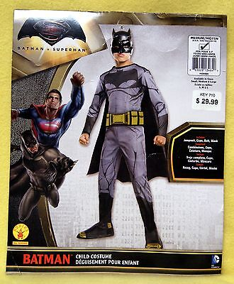 Youth Boy or Girl - Batman V Superman Movie: Batman Costume Sz M (Age 5-7) NEW (Girl Batman Costumes)
