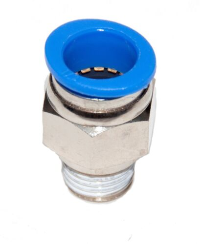 """5 Pieces New  Pneumatic 1/2"""" Tube x 1/4 NPT push to connect one touch fitting"""