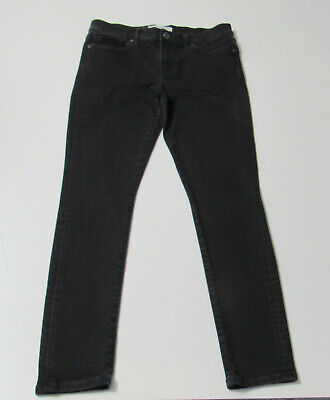 Women's Banana Republic Skinny Stretch Black Jeans Size 28 Petite : 3872
