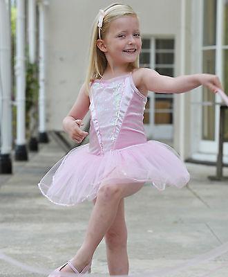 3-5 Years Girls Pink Ballerina Tutu Party Outfit Dance Fancy Dress Travis Design