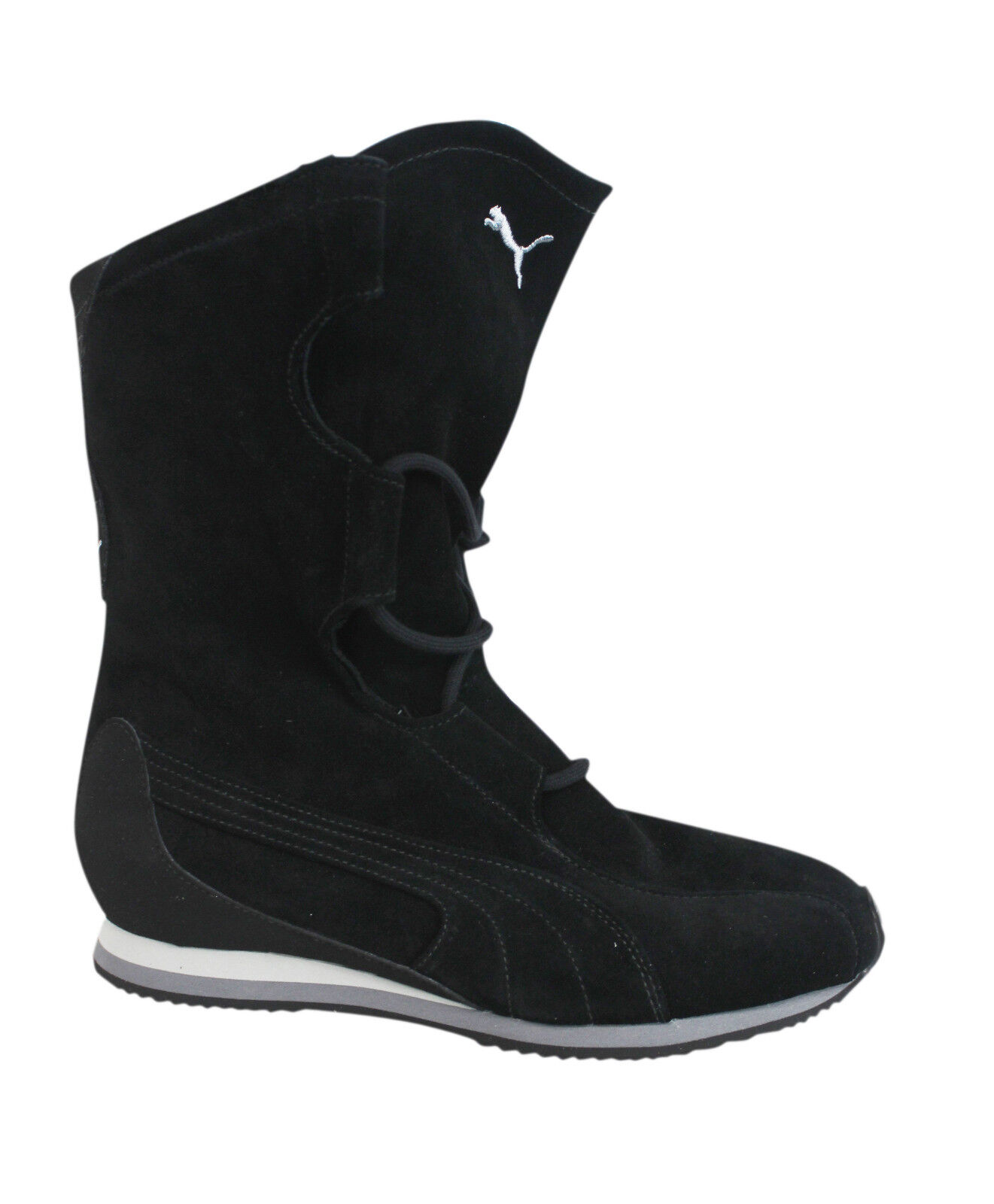 Puma Winter Flix II Lace Up Black Leather Womens Warm Boots 185581 ... 44ab57a9c