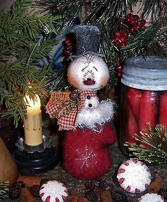 Primitive Patti's Ratties Raggedy Snowman Frosty Doll Paper Pattern #627
