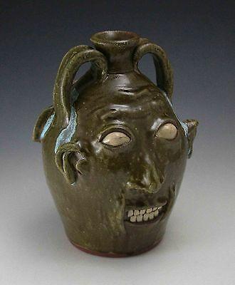 Walter Fleming and Stacy Lambert Double Face Jug North Carolina NC Pottery