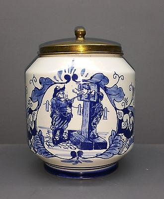 Tabaktopf mit Messingdeckel - Rossem`s Tabak Anno 1750