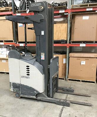 2007 Crown Rr5265s-45 Forklift Reach Truck 107240 4500lb W Sideshift 2015 Batt