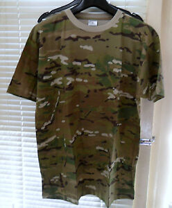 MILITARY-BRITISH-ARMY-T-SHIRT-BRITISH-MPT-MULTICAM-GREEN-XL