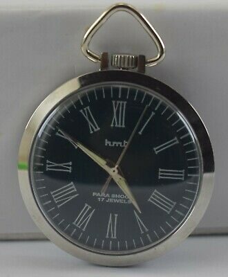 Vintage HMT 17Jewels Winding Pocket Watch For Unisex Use Working Good D-225-20
