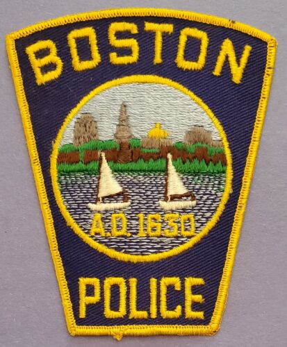 Vintage Boston, Mass Police A.D.1630, Shoulder Patch, Sailboats, 1960