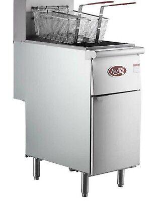 Liquid Propane Commercial Restaurant Stainless Steel Floor Deep Fryer 40 Lb.