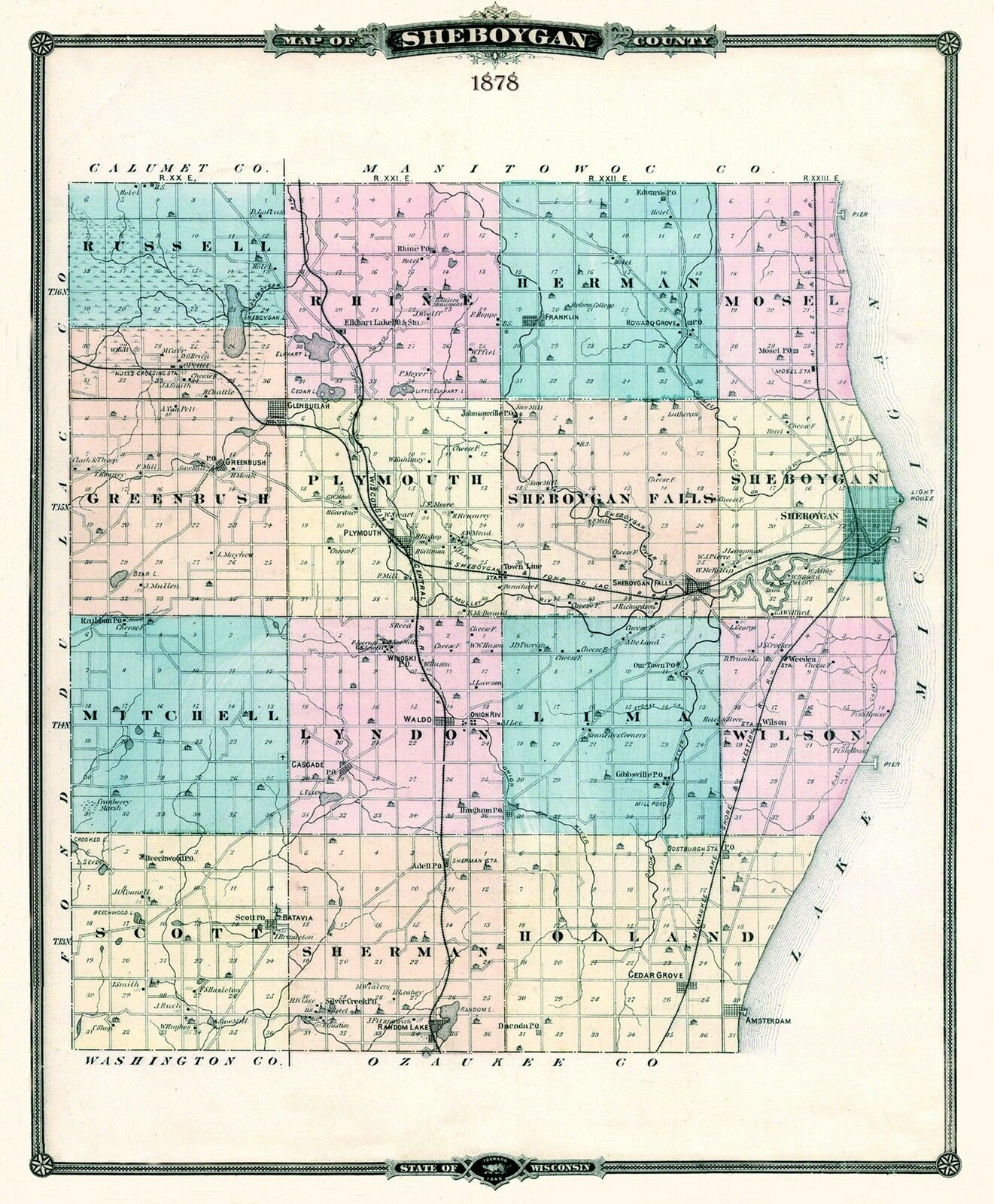 Wisconsin County Map Gis Sheboygan 8