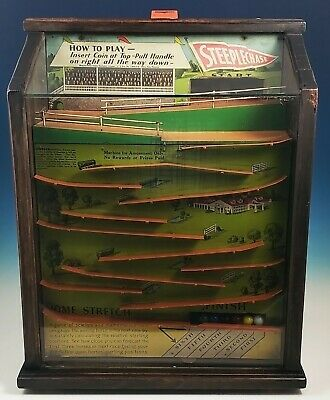 Vintage 1930s Kenney Sons Steeplechase Trade Simulator Horse Racing Arcade Game