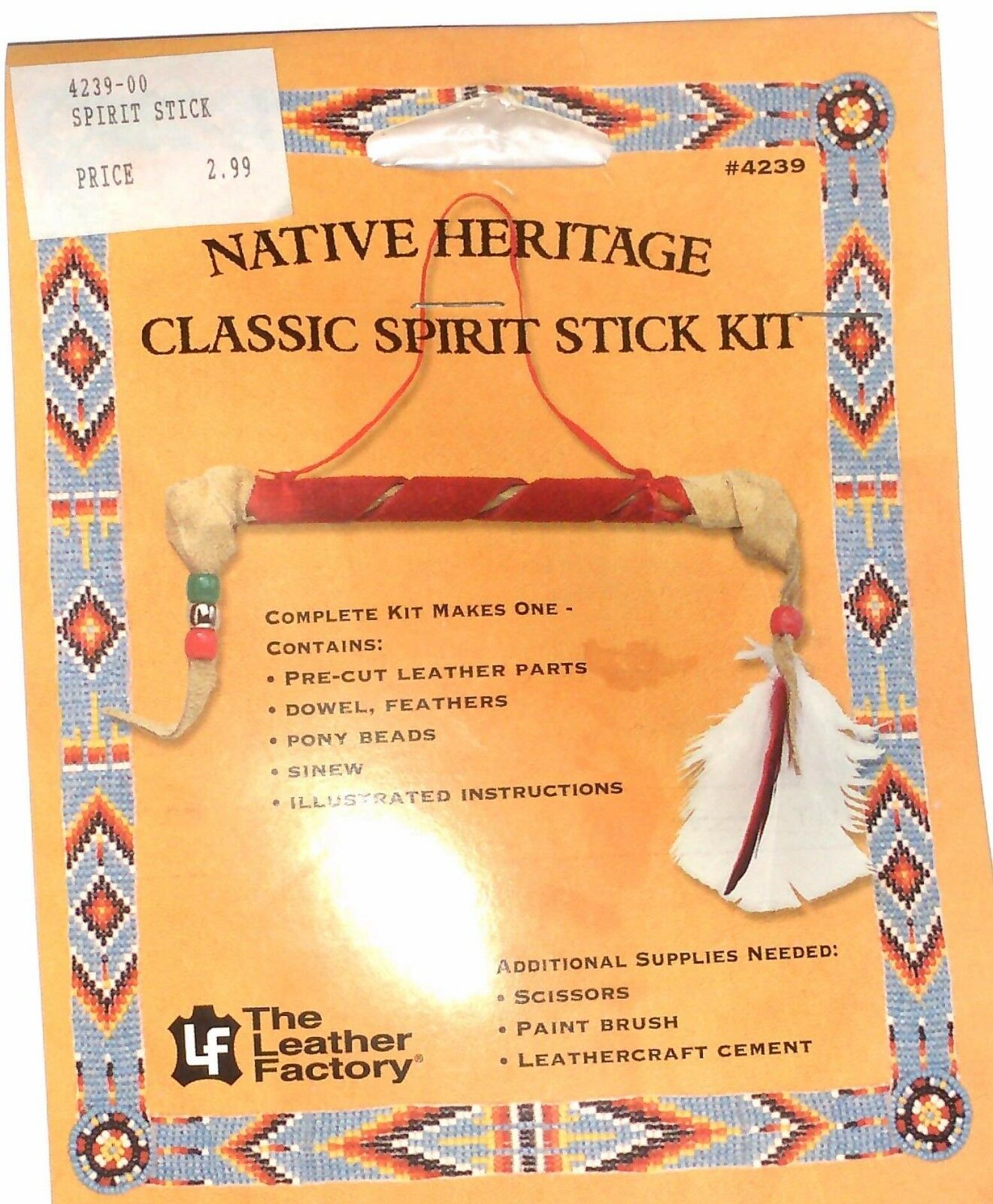 NEW EZ Project Ornament Native Heritage Classic  Spirit Stick Kit