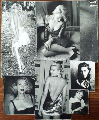 "SCARLETT JOHANSSON Black & White 6 PHOTO 8x11"" Original Collage (Vintage Poster)"