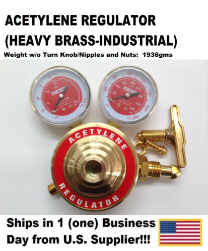 Acetylene Regulator (Heavy Brass-Industrial) US Supplier!