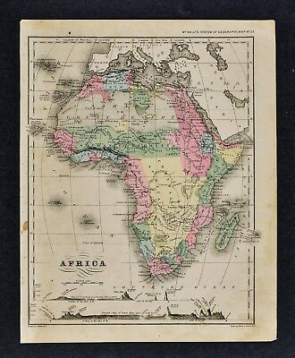 1882 Wells Map - Africa Guinea Sudan Egypt Nubia Congo Cape Colony South Sahara