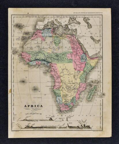 1882 Wells Map - Africa Guinea Sudan Egypt Nubia Congo Cape Colony South Sahara