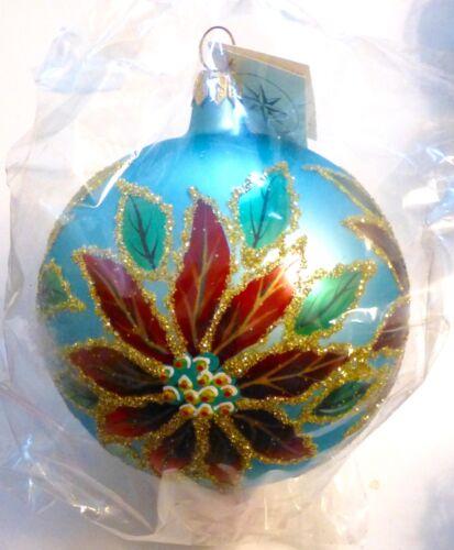 Christopher Radko 1996 WINTER BLOSSOM Tear Drop Christmas Ornament...Poland