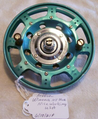 NICE VINTAGE HEDDON WINONA 105 BLUE REEL 6/10/21P NICE WORKING  USA